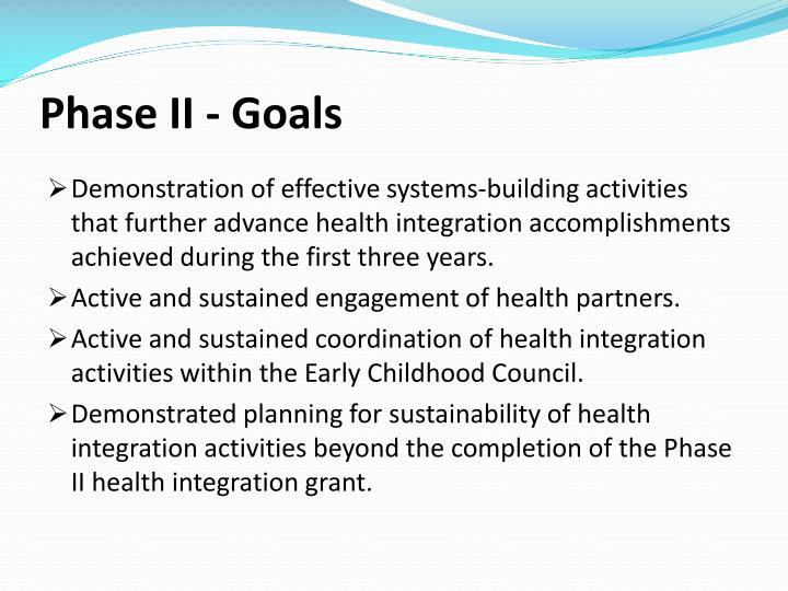 Phase II - Goals