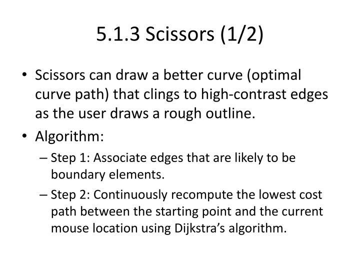 5.1.3 Scissors (1/2)