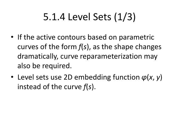5.1.4 Level Sets (1/3)