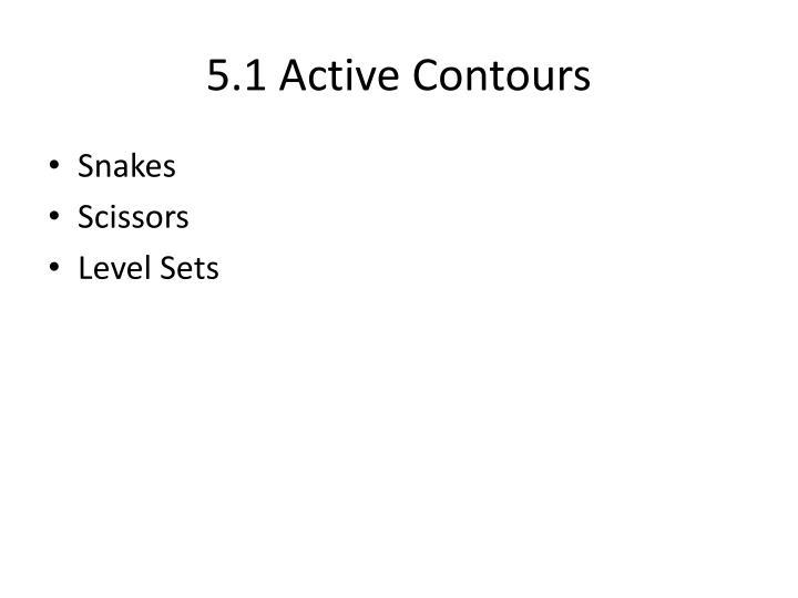 5.1 Active Contours