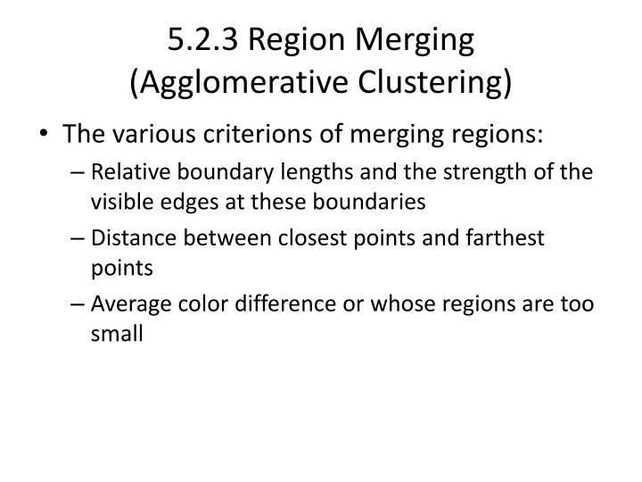 5.2.3 Region Merging