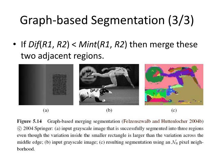 Graph-based Segmentation (3/3)