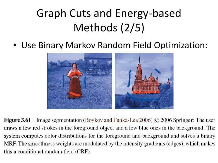 Graph Cuts and Energy-based Methods (2/5)