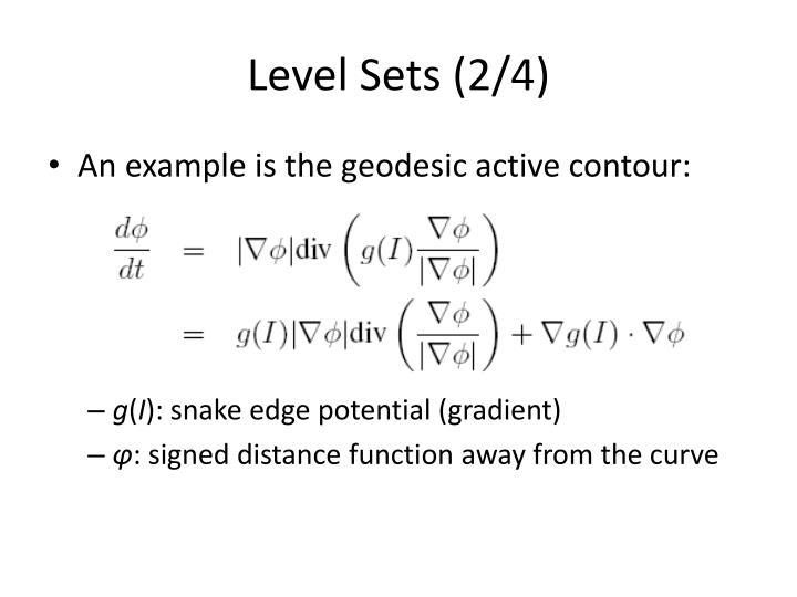Level Sets (2/4)