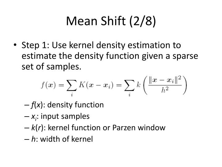 Mean Shift (2/8)