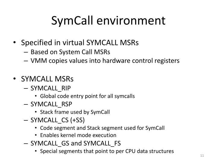 SymCall environment