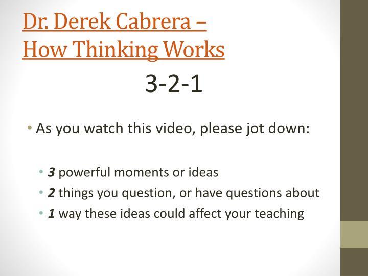 Dr. Derek Cabrera