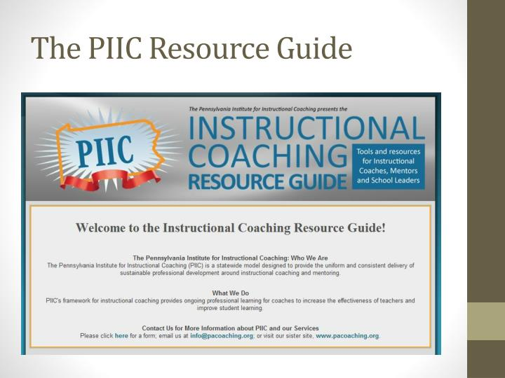 The PIIC Resource Guide