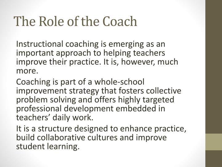 The Role of the Coach