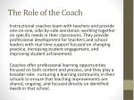 the role of the coach1