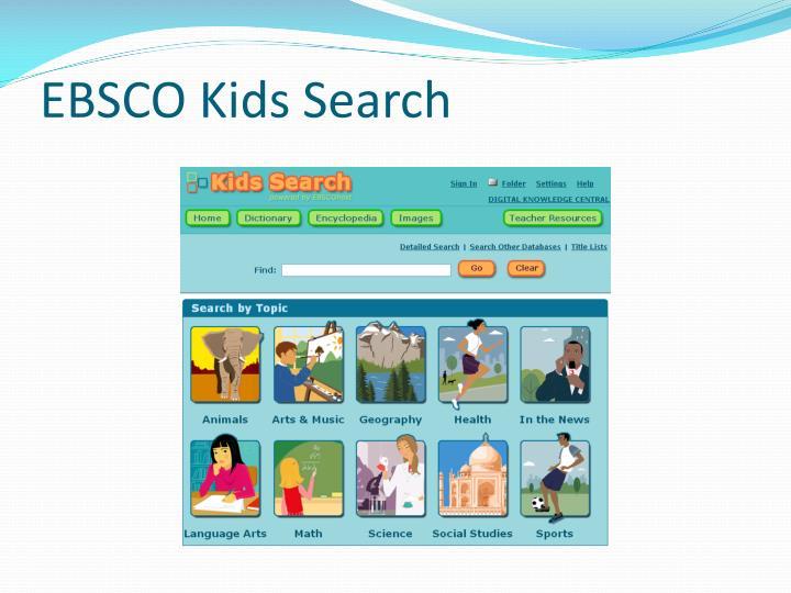 EBSCO Kids Search