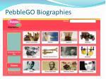 pebblego biographies
