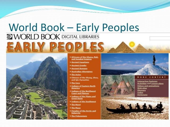 World Book – Early Peoples