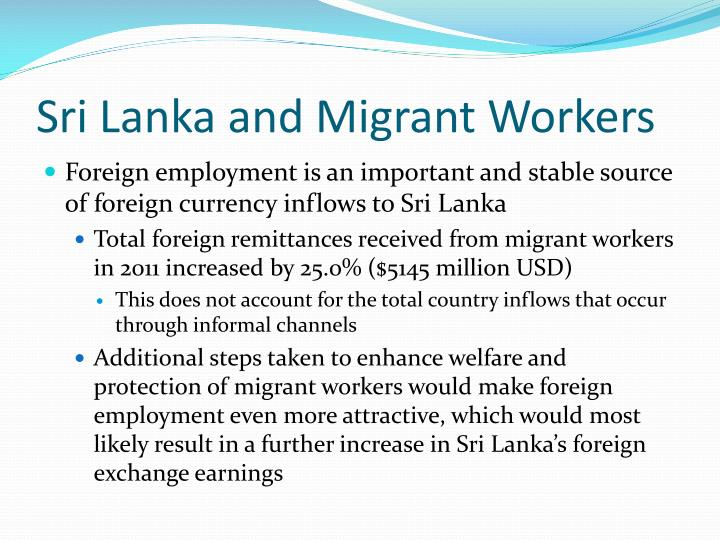 Sri Lanka and Migrant Workers