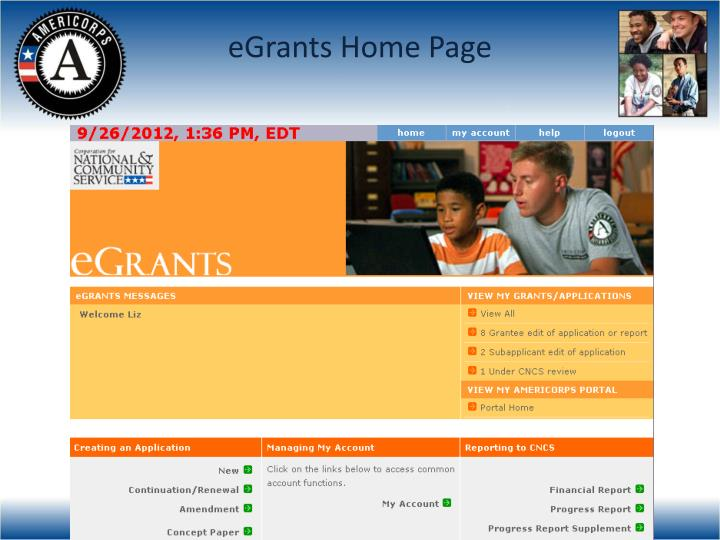 eGrants Home Page