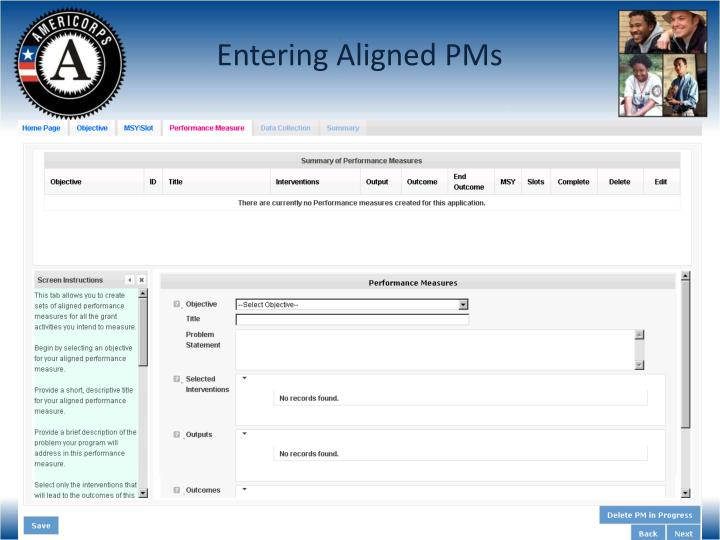 Entering Aligned PMs
