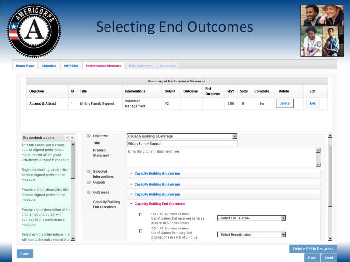 Selecting End Outcomes