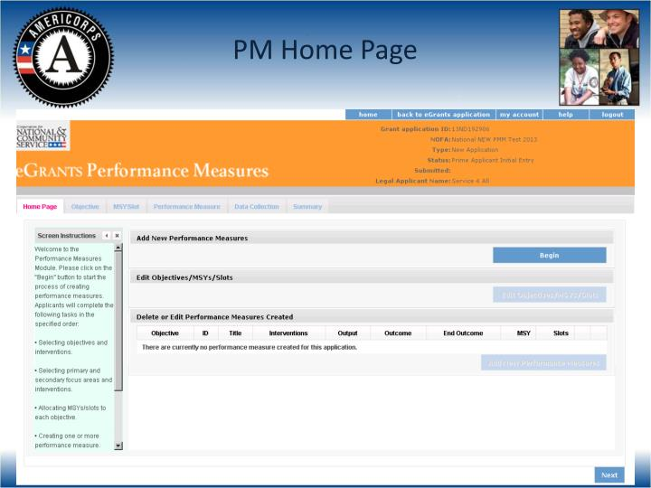 PM Home Page