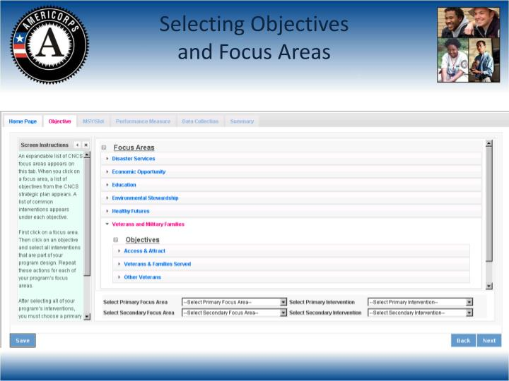 Selecting Objectives