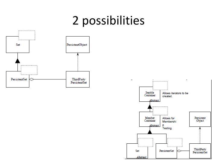 2 possibilities