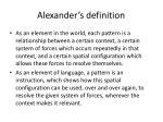 alexander s definition