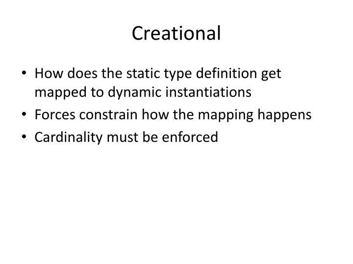 Creational
