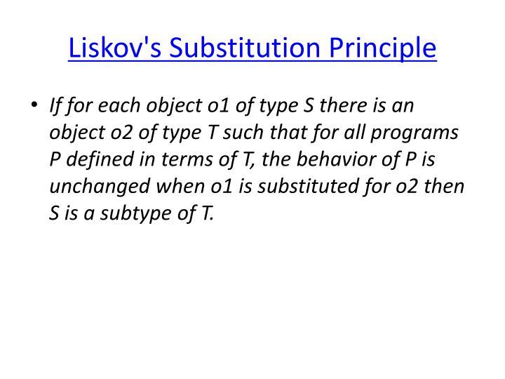 Liskov's
