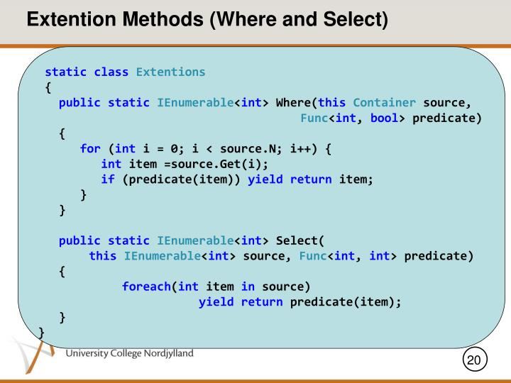 Extention Methods (Where and Select)