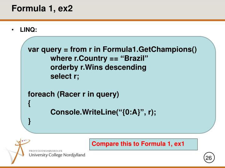 Formula 1, ex2