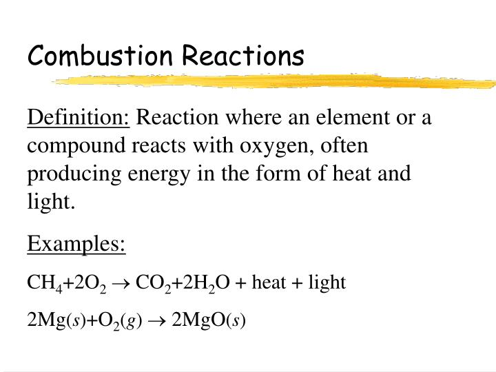 Combustion Reactions