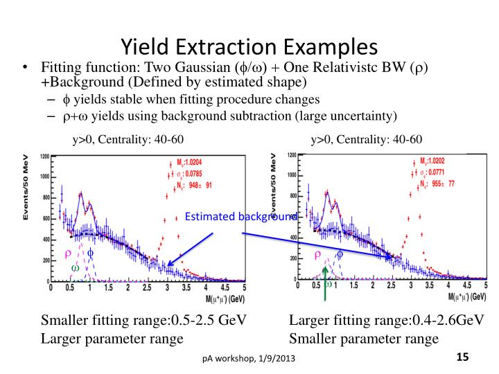 Yield Extraction Examples