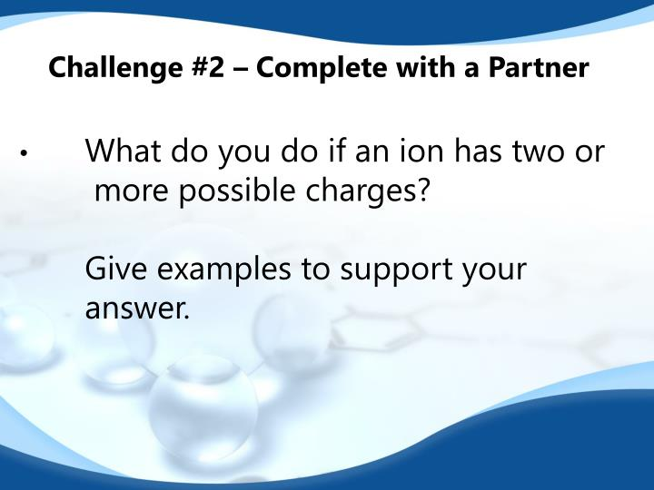 Challenge #2 – Complete with a Partner