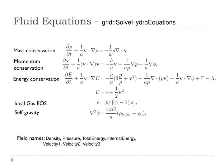Fluid Equations -