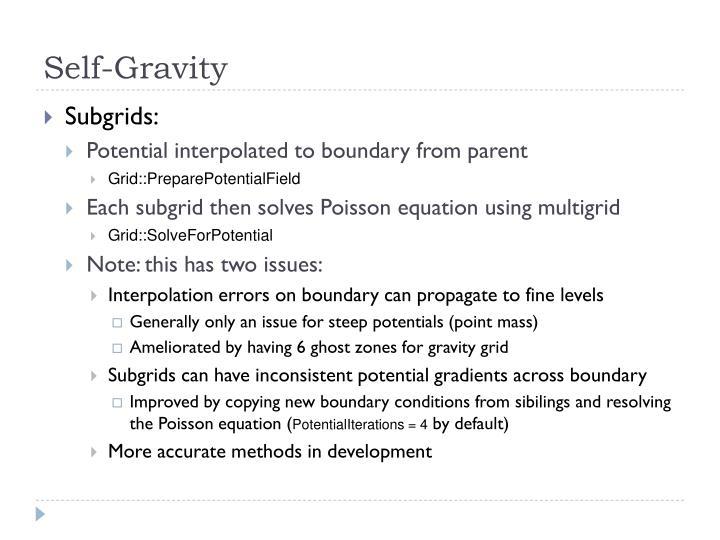 Self-Gravity