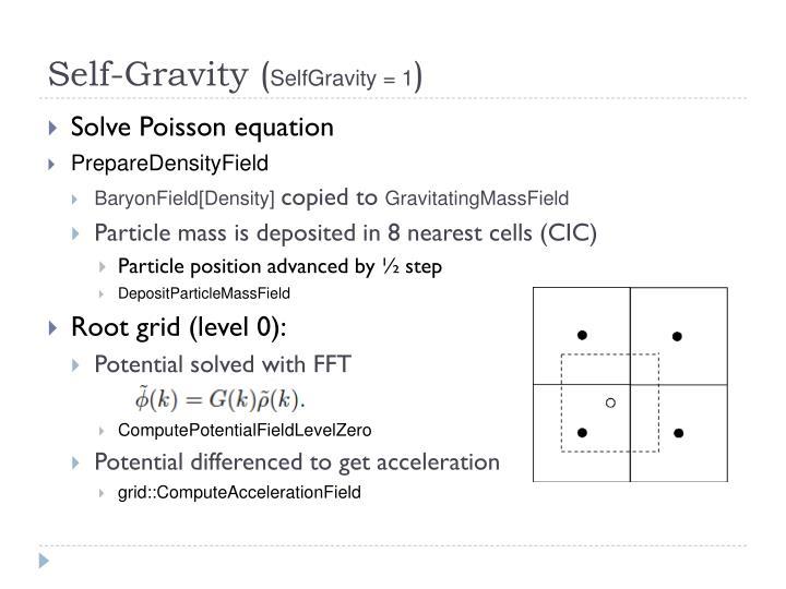 Self-Gravity (