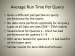 average run time per query