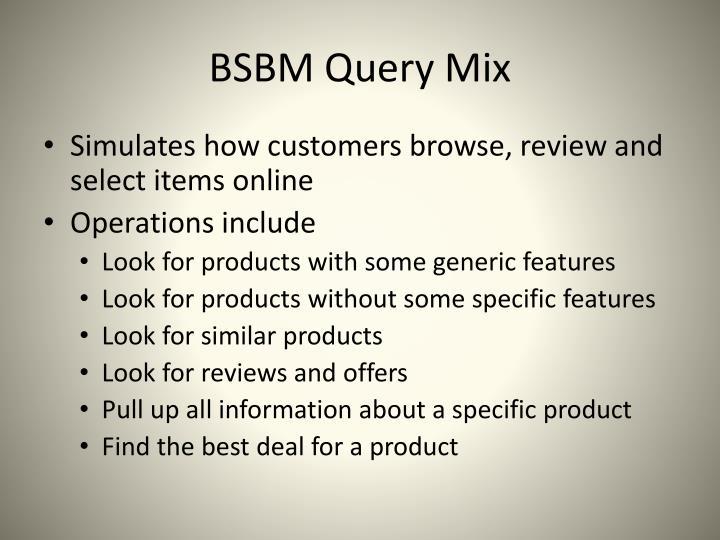 BSBM Query Mix