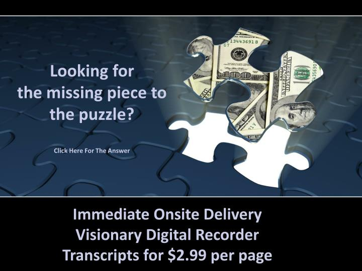 Looking for the missing piece to the puzzle click here for the answer