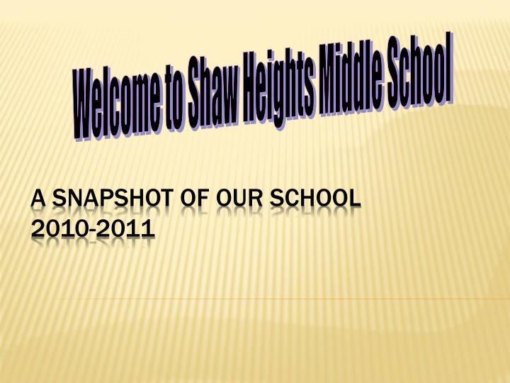 A snapshot of our school 2010 2011