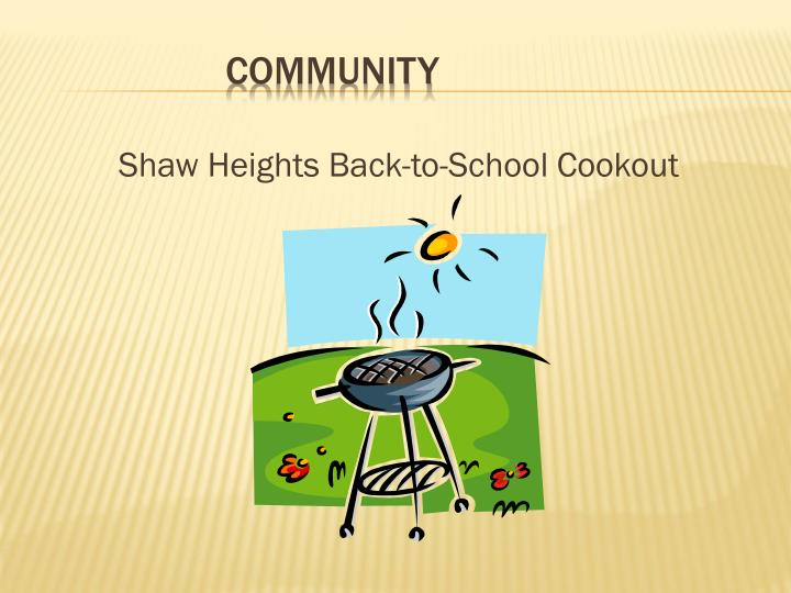 Shaw Heights Back-to-School Cookout