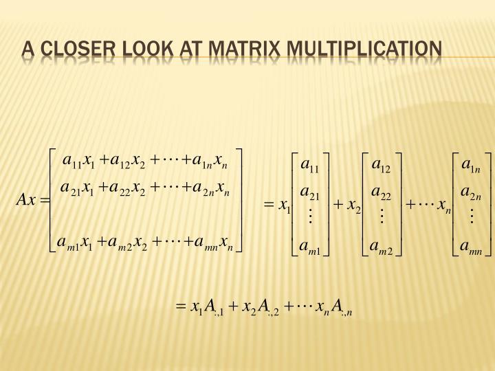 A closer look at matrix multiplication