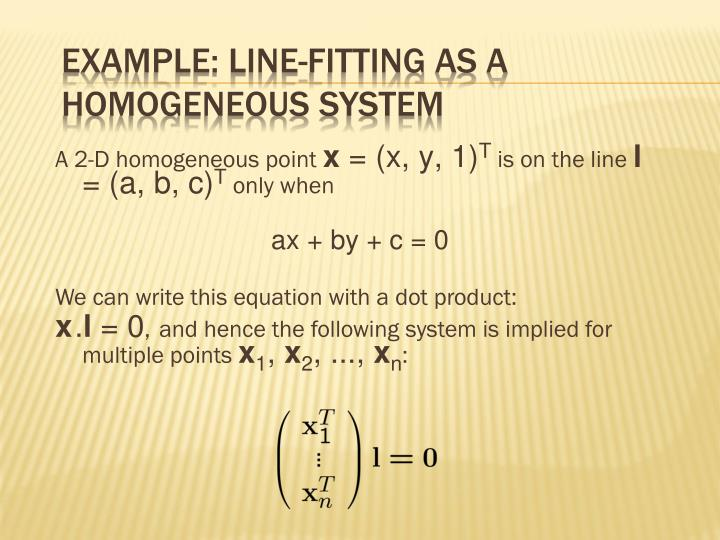 example: Line-Fitting