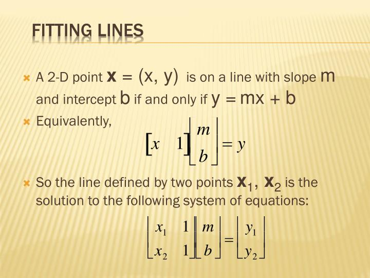 Fitting Lines