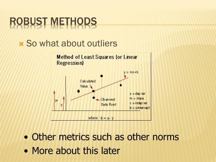 Robust methods