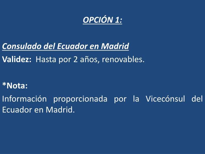 OPCIÓN 1: