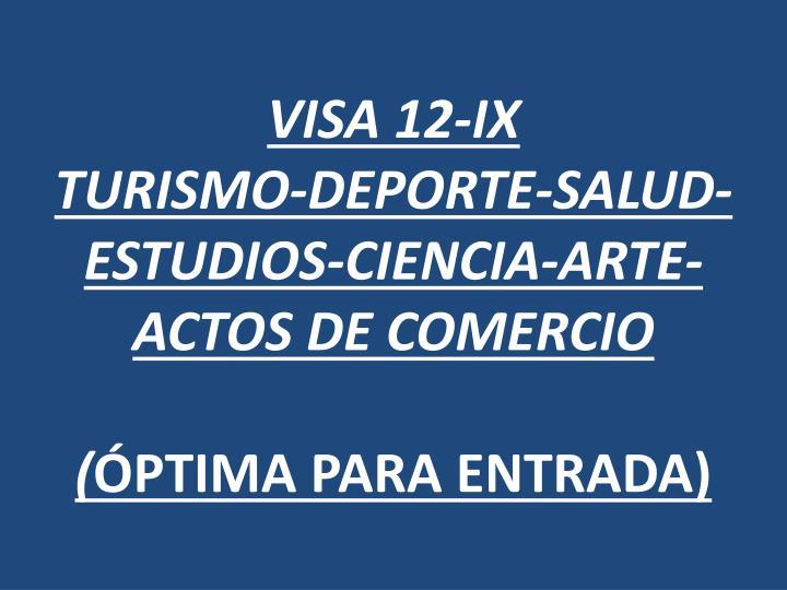 VISA 12-IX