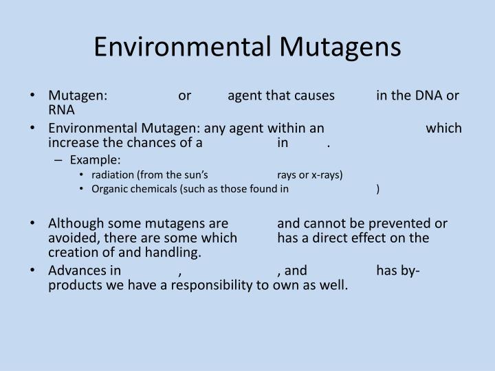 Environmental Mutagens
