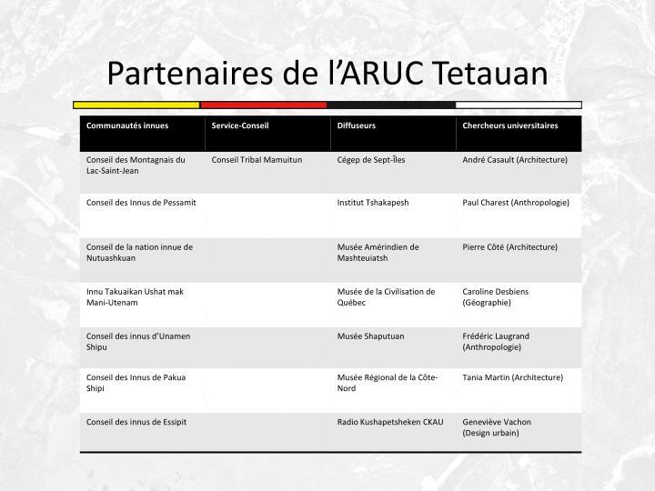Partenaires de l'ARUC Tetauan