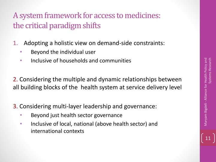 A system framework for access to