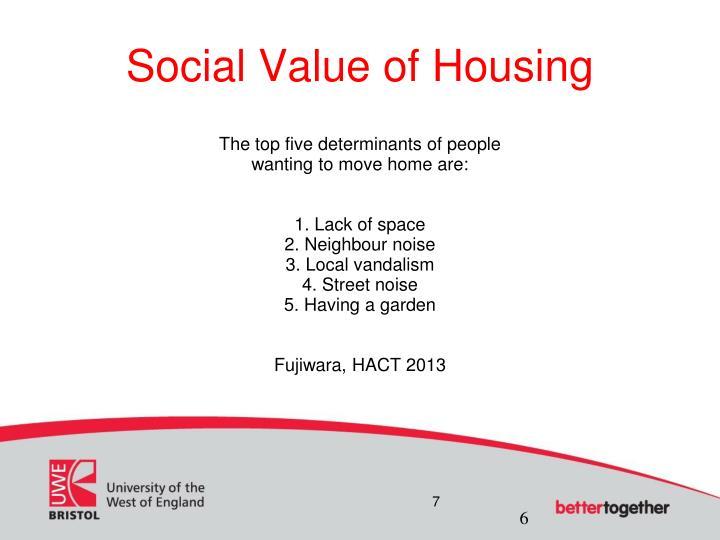 Social Value of Housing